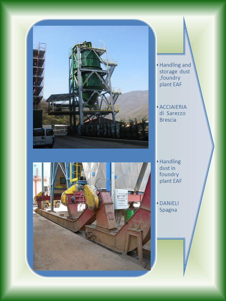 Handling and storage dust,foundry plant EAF ACCIAIERIA di Sarezzo Brescia Handling dust in foundry plant EAF DANIELI Spagna