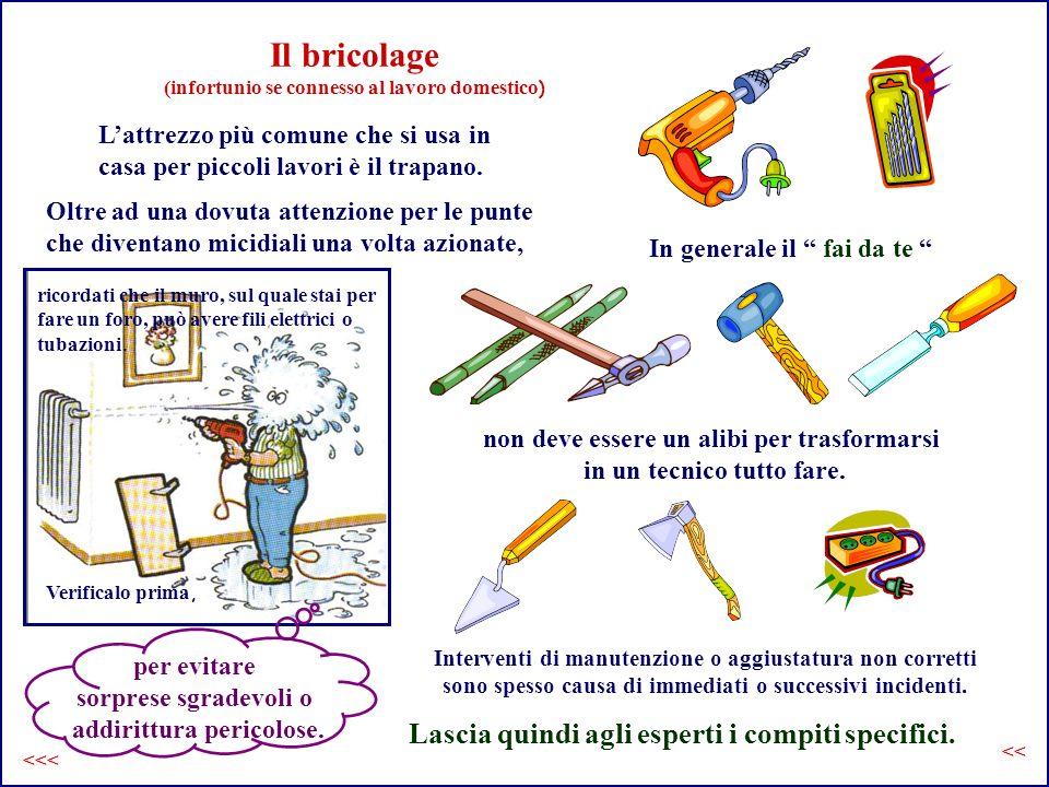 Il bricolage (infortunio se connesso al lavoro domestico ) Lattrezzo più comune che si usa in casa per piccoli lavori è il trapano.