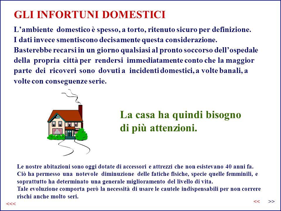 GLI INFORTUNI DOMESTICI Lambiente domestico è spesso, a torto, ritenuto sicuro per definizione. I dati invece smentiscono decisamente questa considera
