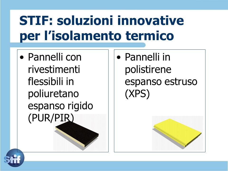 STIF: soluzioni innovative per lisolamento termico Pannelli con rivestimenti flessibili in poliuretano espanso rigido (PUR/PIR) Pannelli in polistiren