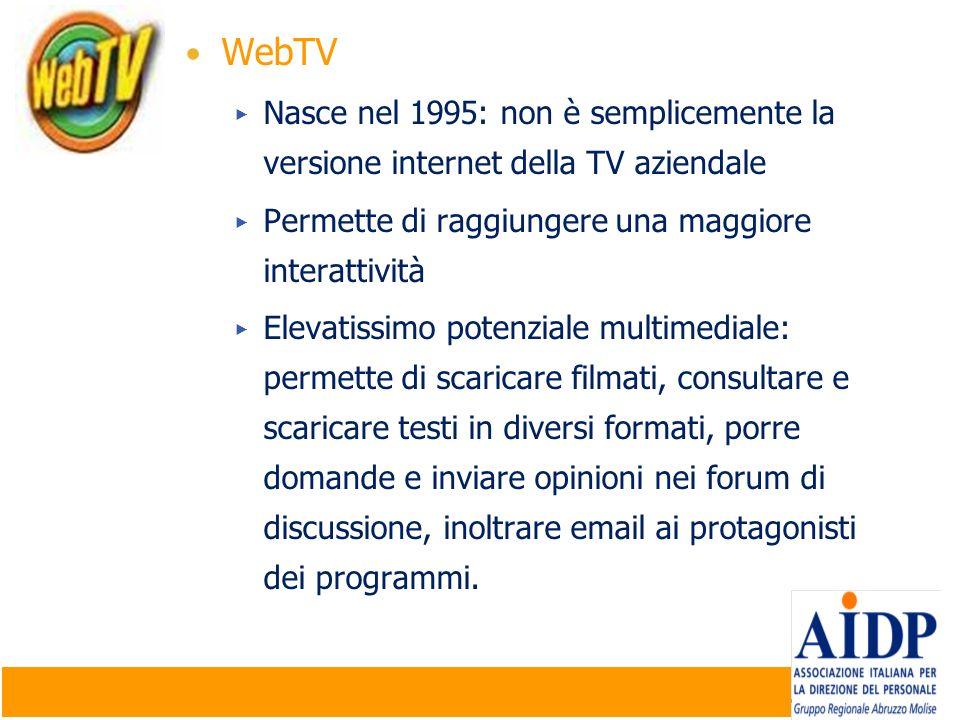Company Confidential | ©2009 Micron Technology, Inc. | 16 WebTV Nasce nel 1995: non è semplicemente la versione internet della TV aziendale Permette d
