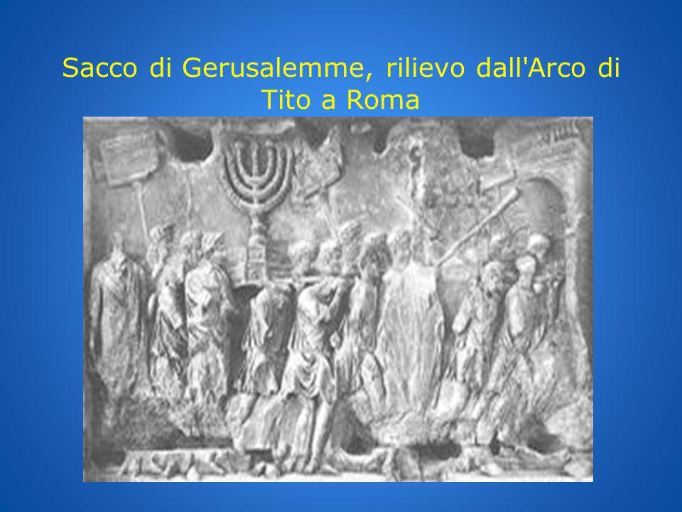 Sacco di Gerusalemme, rilievo dall'Arco di Tito a Roma