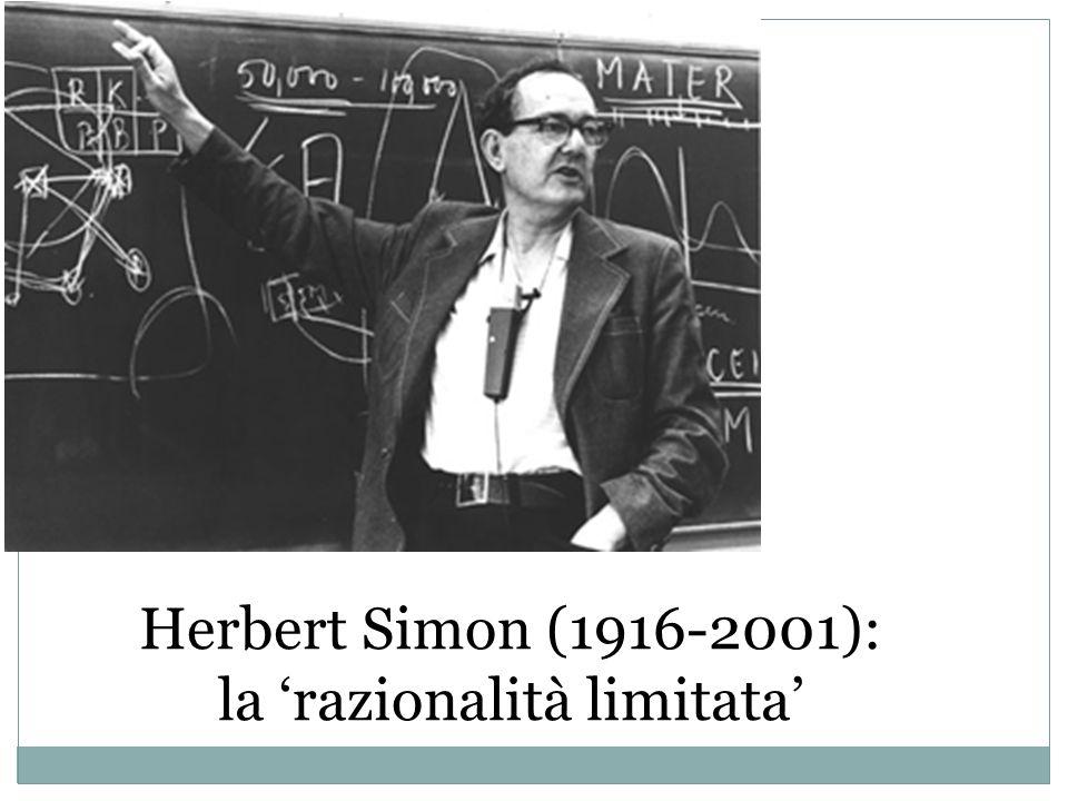 Herbert Simon (1916-2001): la razionalità limitata