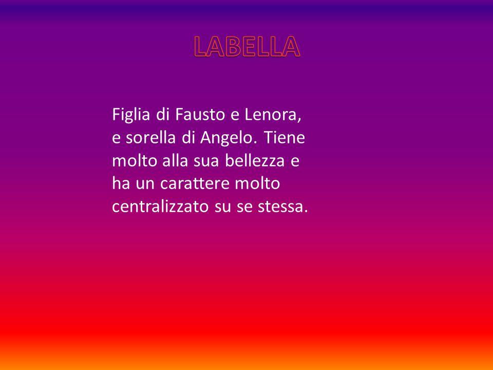 Figlia di Fausto e Lenora, e sorella di Angelo.