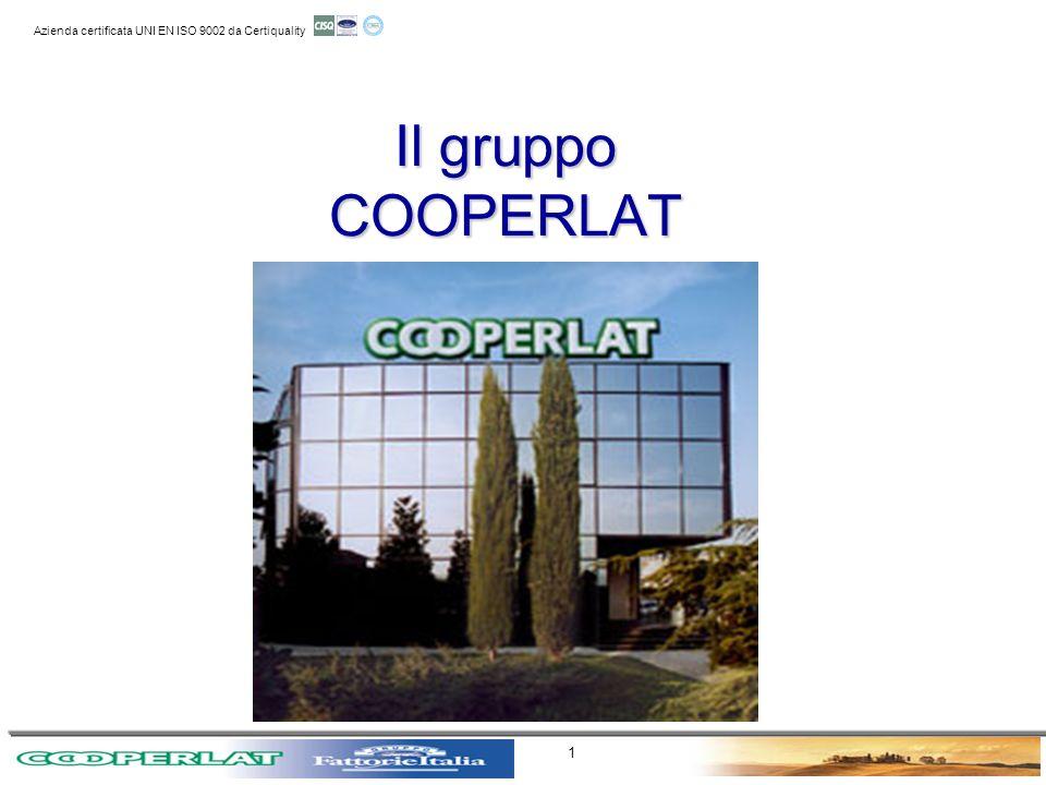 11 aprile 2003 Azienda certificata UNI EN ISO 9002 da Certiquality 1 Il gruppo COOPERLAT