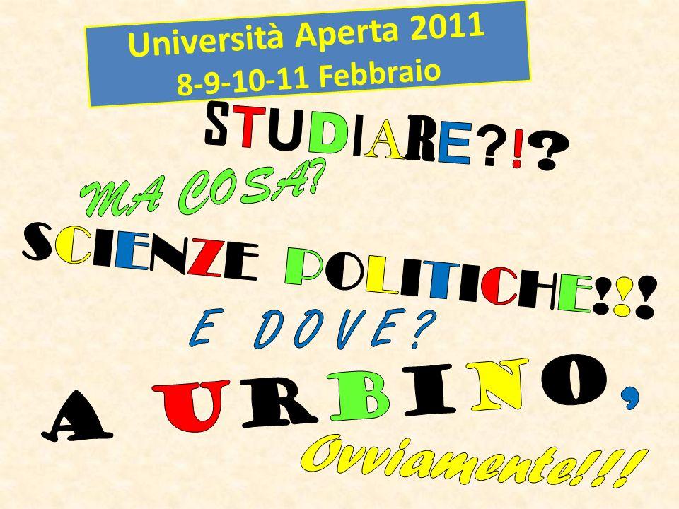 Università Aperta 2011 8-9-10-11 Febbraio