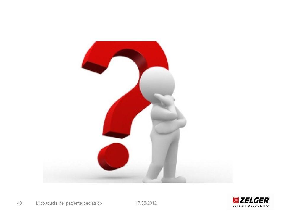 L'ipoacusia nel paziente pediatrico4017/05/2012