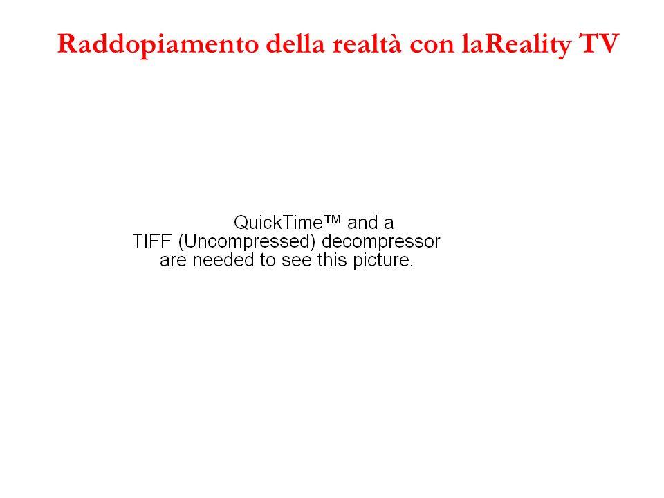 Raddopiamento della realtà con laReality TV