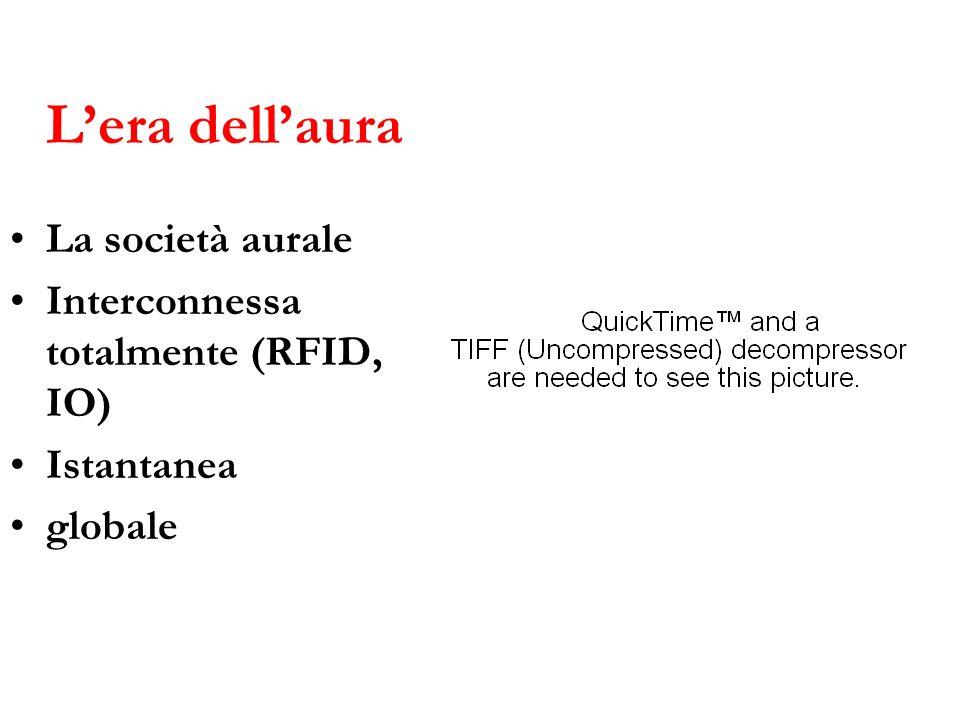 Lera dellaura La società aurale Interconnessa totalmente (RFID, IO) Istantanea globale