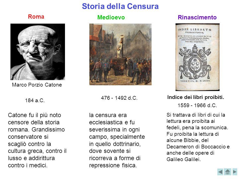 Storia della Censura Marco Porzio Catone Roma 184 a.C. Catone fu il più noto censore della storia romana. Grandissimo conservatore si scagliò contro l