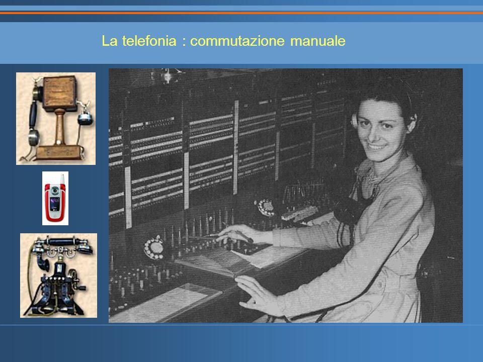 La telefonia : commutazione manuale