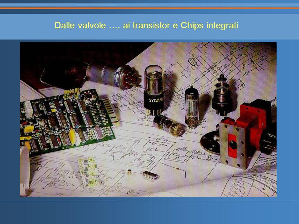 Dalle valvole …. ai transistor e Chips integrati