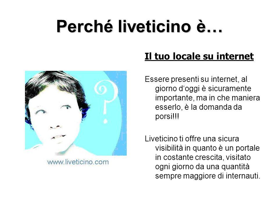 Perché liveticino è… Il tuo locale su internet Essere presenti su internet, al giorno doggi è sicuramente importante, ma in che maniera esserlo, è la domanda da porsi!!.