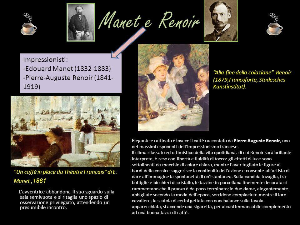 Manet e Renoir L'avventrice abbandona il suo sguardo sulla sala semivuota e si ritaglia uno spazio di osservazione privilegiato, attendendo un presumi
