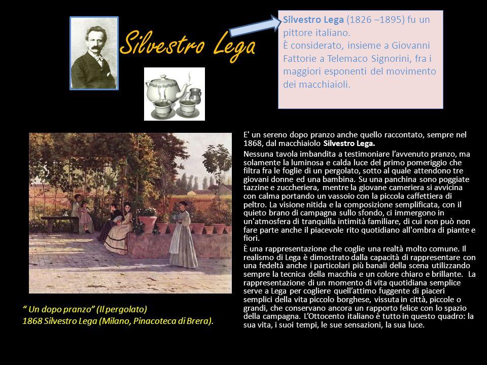 Silvestro Lega E' un sereno dopo pranzo anche quello raccontato, sempre nel 1868, dal macchiaiolo Silvestro Lega. Nessuna tavola imbandita a testimoni