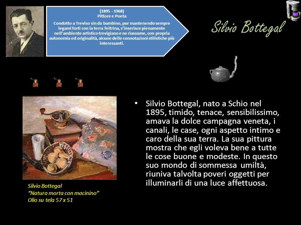 Silvio Bottegal Silvio Bottegal, nato a Schio nel 1895, timido, tenace, sensibilissimo, amava la dolce campagna veneta, i canali, le case, ogni aspett