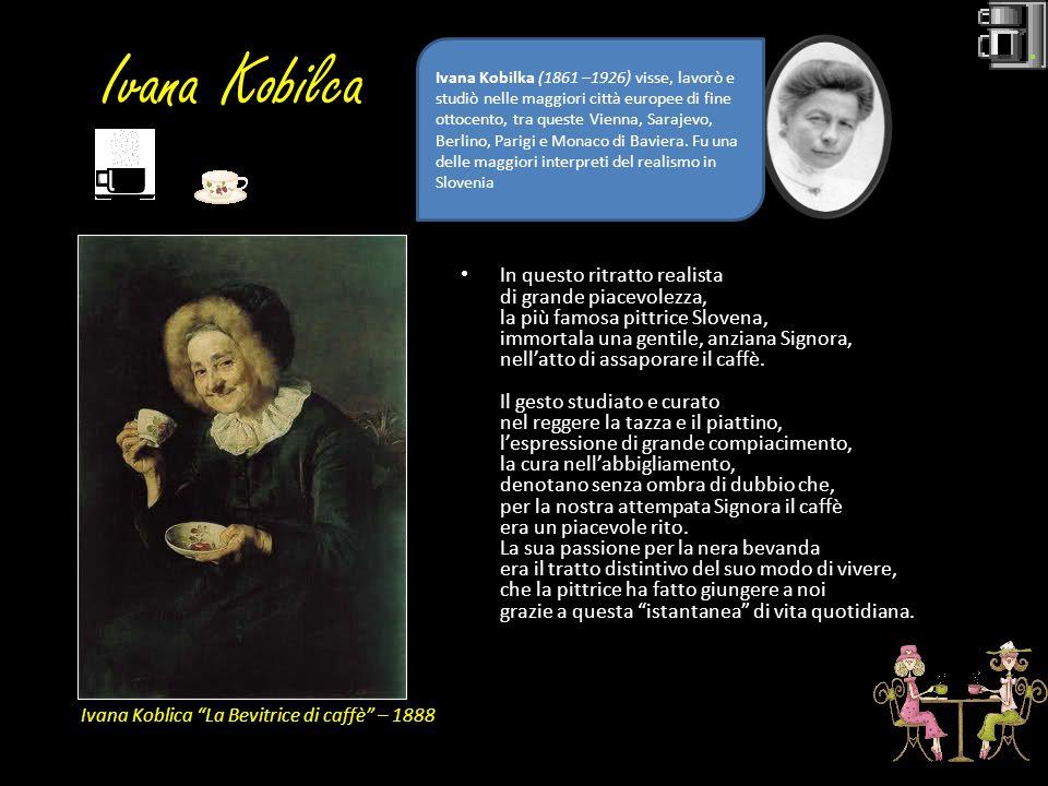 Ivana Kobilca In questo ritratto realista di grande piacevolezza, la più famosa pittrice Slovena, immortala una gentile, anziana Signora, nellatto di