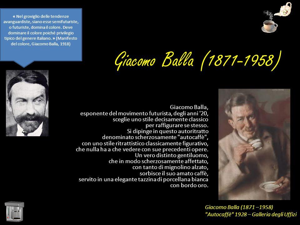 Giacomo Balla (1871-1958) Giacomo Balla, esponente del movimento futurista, degli anni '20, sceglie uno stile decisamente classico per raffigurare se