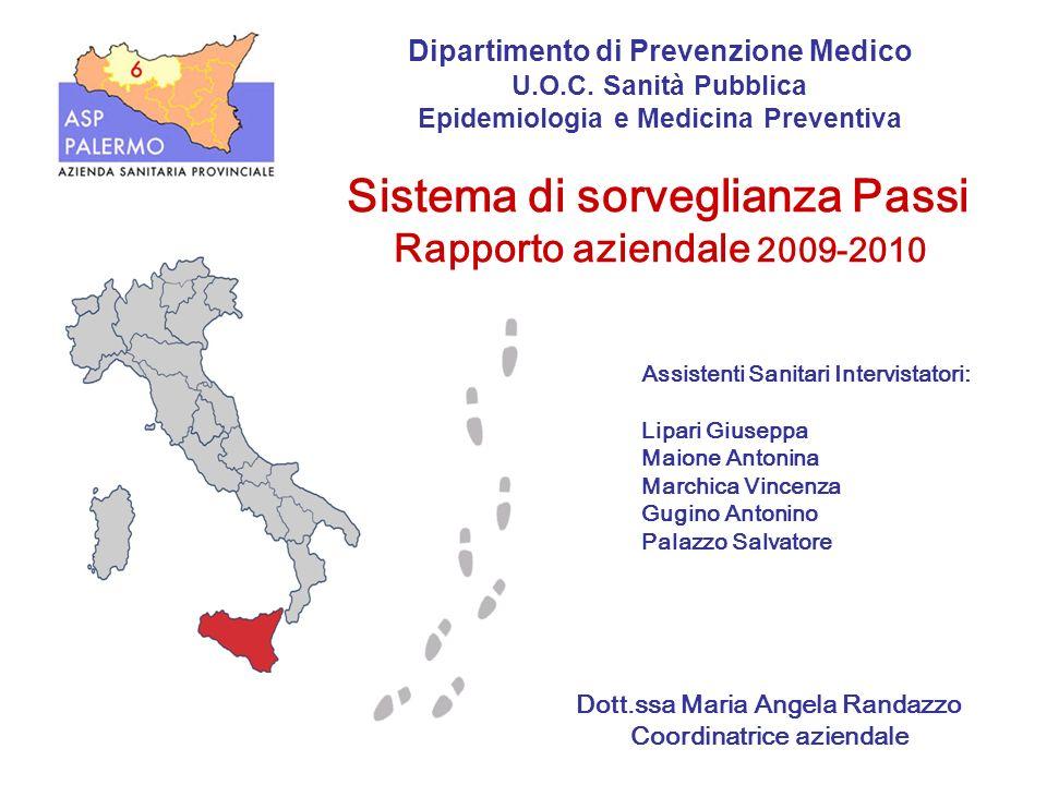 Dott.ssa Maria Angela Randazzo Coordinatrice aziendale Dipartimento di Prevenzione Medico U.O.C. Sanità Pubblica Epidemiologia e Medicina Preventiva S