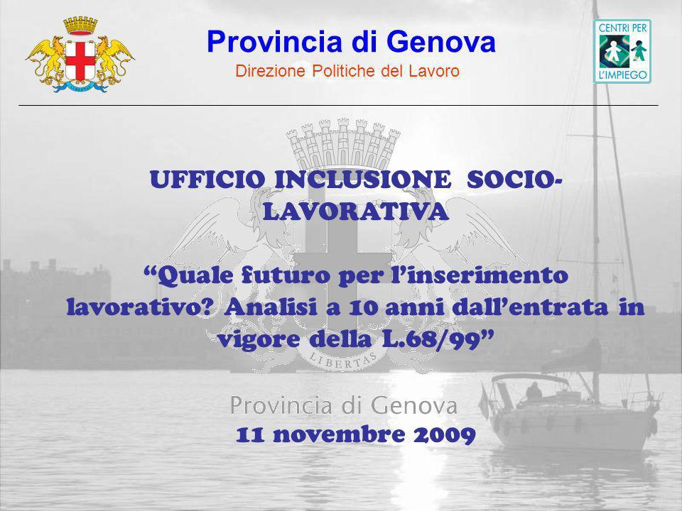 UFFICIO INCLUSIONE SOCIO- LAVORATIVA Quale futuro per linserimento lavorativo.