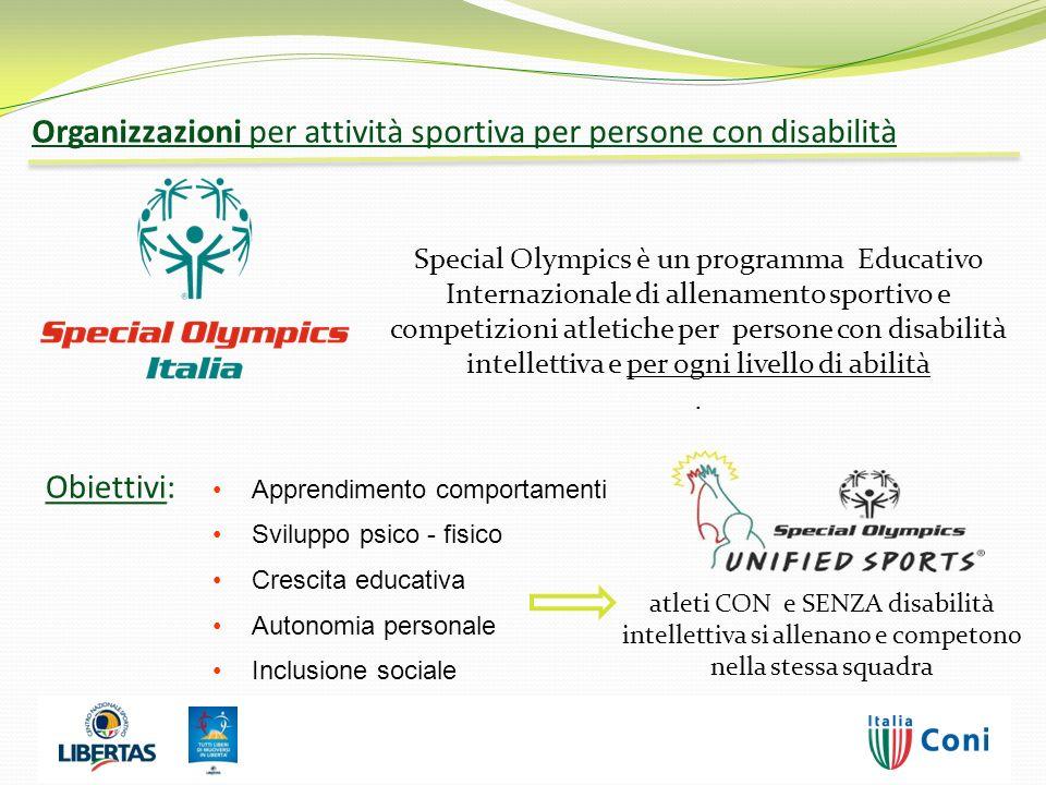 Special Olympics è un programma Educativo Internazionale di allenamento sportivo e competizioni atletiche per persone con disabilità intellettiva e pe