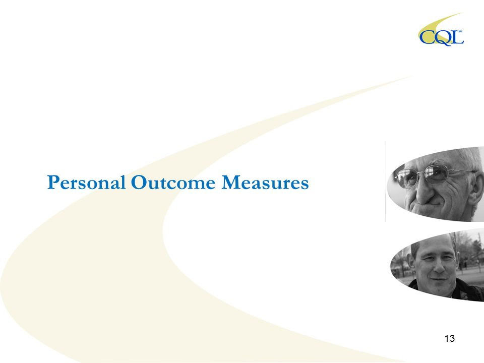 Personal Outcome Measures 13