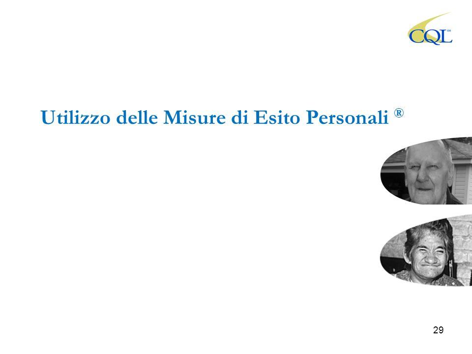 Utilizzo delle Misure di Esito Personali ® 29