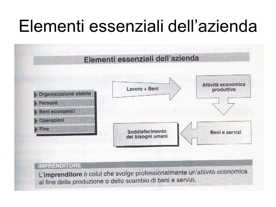 Elementi essenziali dellazienda