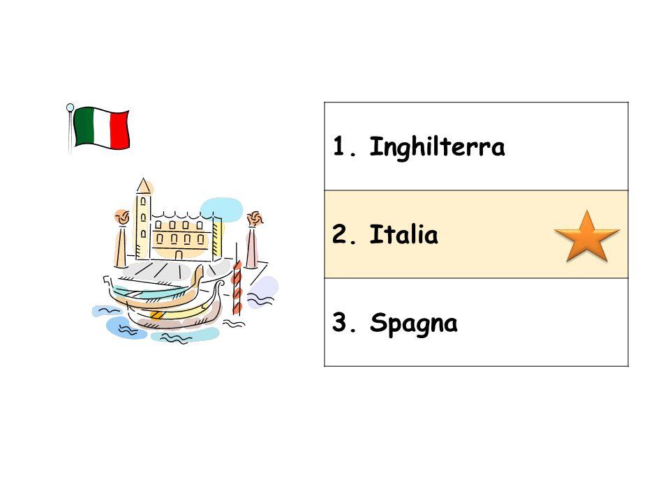 1. Inghilterra 2. Italia 3. Spagna