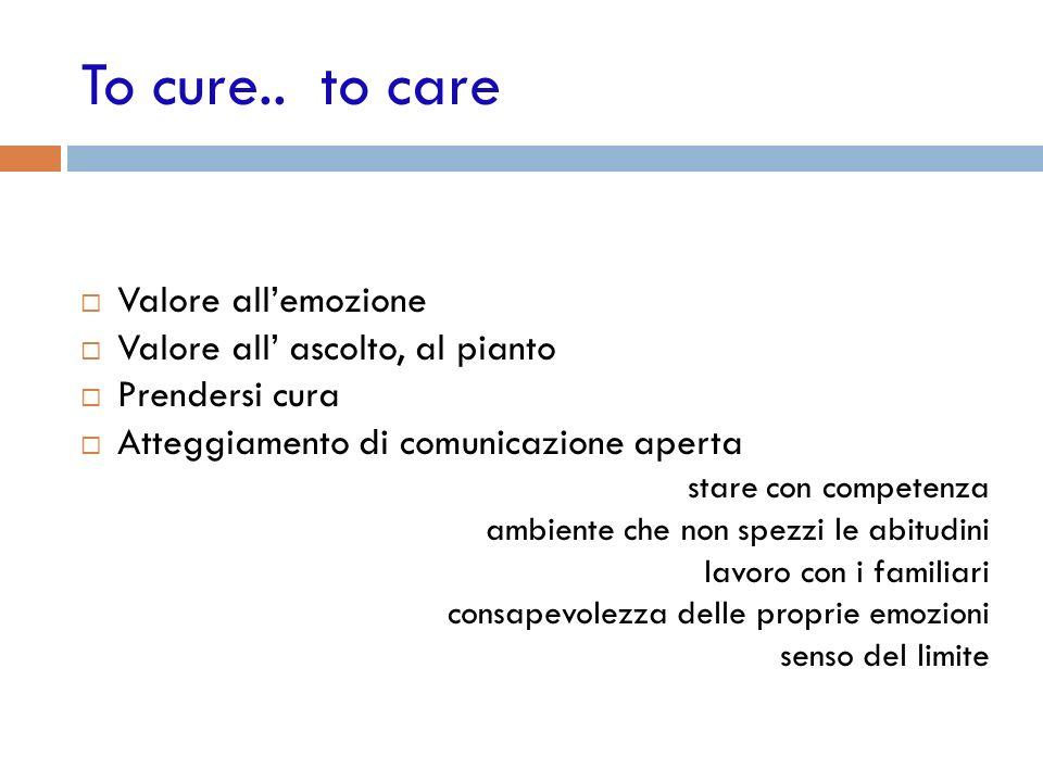 To cure..
