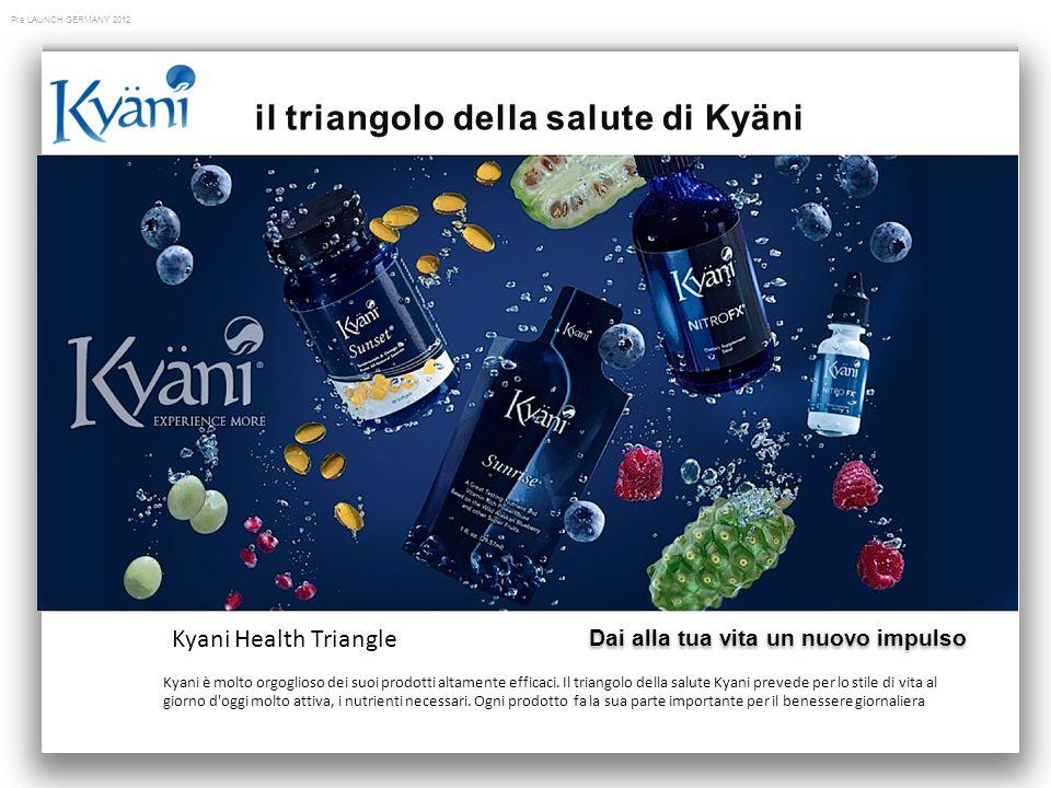 Pre LAUNCH GERMANY 2012 Kyani è molto orgoglioso dei suoi prodotti altamente efficaci.