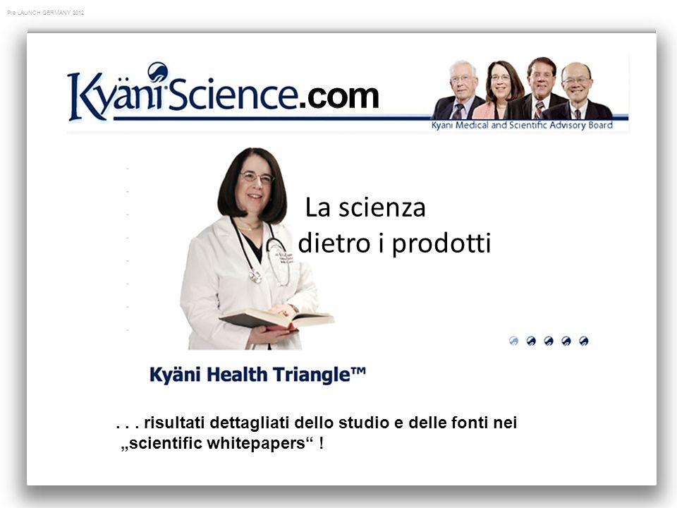 Pre LAUNCH GERMANY 2012 La scienza dietro i prodotti...