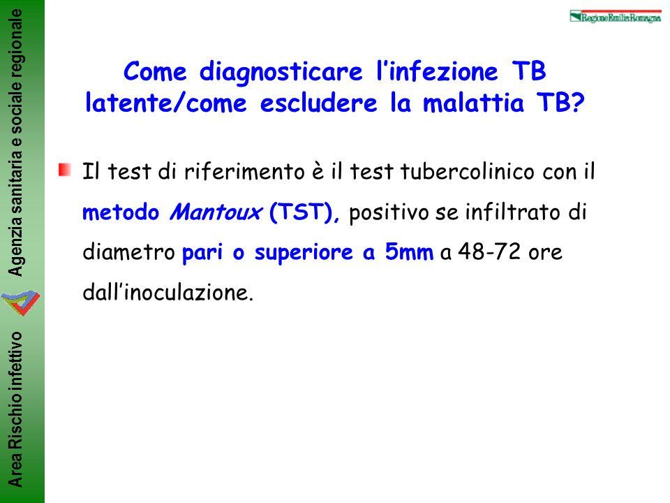 Agenzia sanitaria e sociale regionale Area Rischio infettivo Come diagnosticare linfezione TB latente/come escludere la malattia TB? Il test di riferi