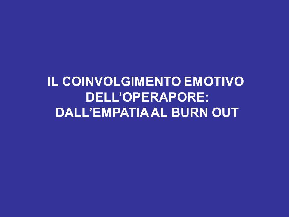 IL COINVOLGIMENTO EMOTIVO DELLOPERAPORE: DALLEMPATIA AL BURN OUT