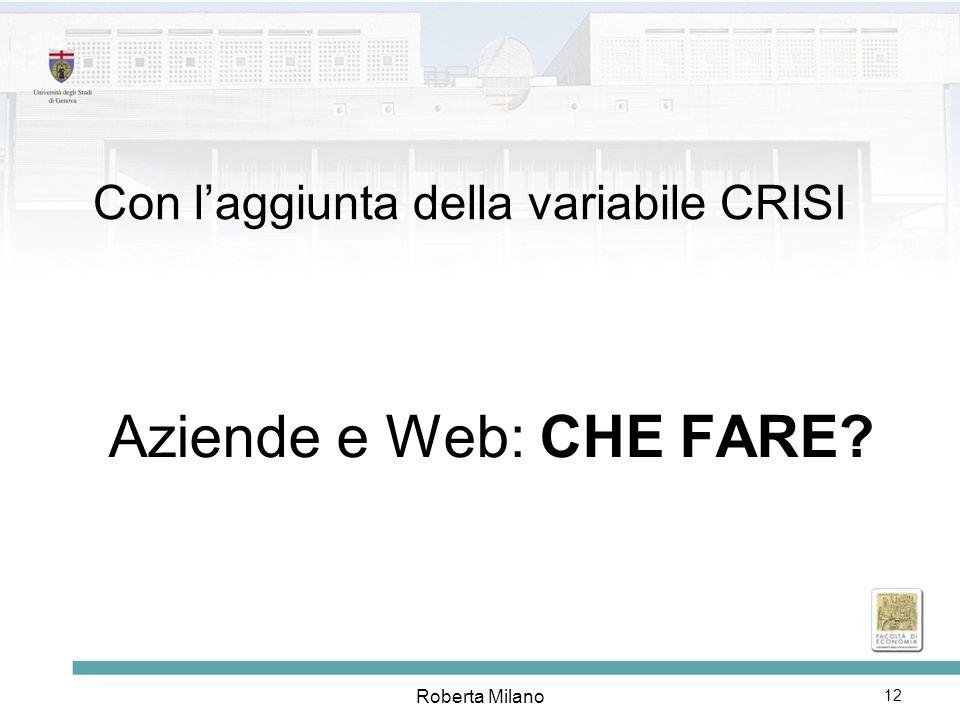 Roberta Milano 13 Aziende e Investimenti sul web (a breve)
