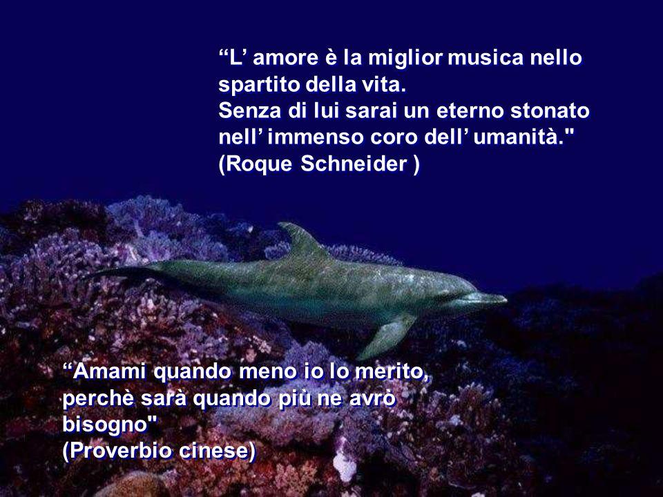 L amore è la miglior musica nello spartito della vita.