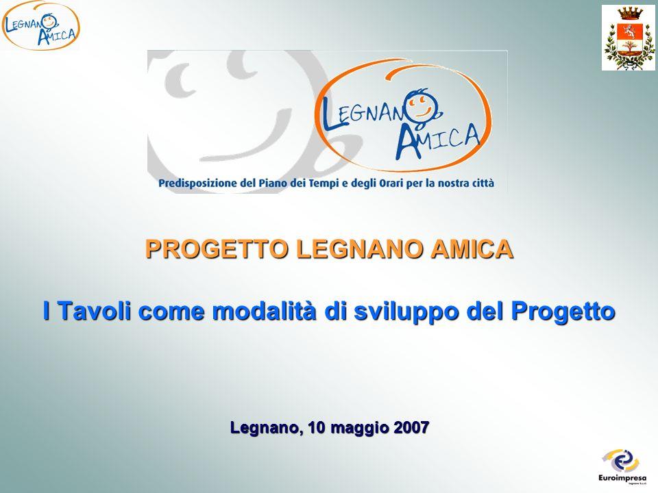 Legnano, 10 maggio 2007 PROGETTO LEGNANO AMICA I Tavoli come modalità di sviluppo del Progetto