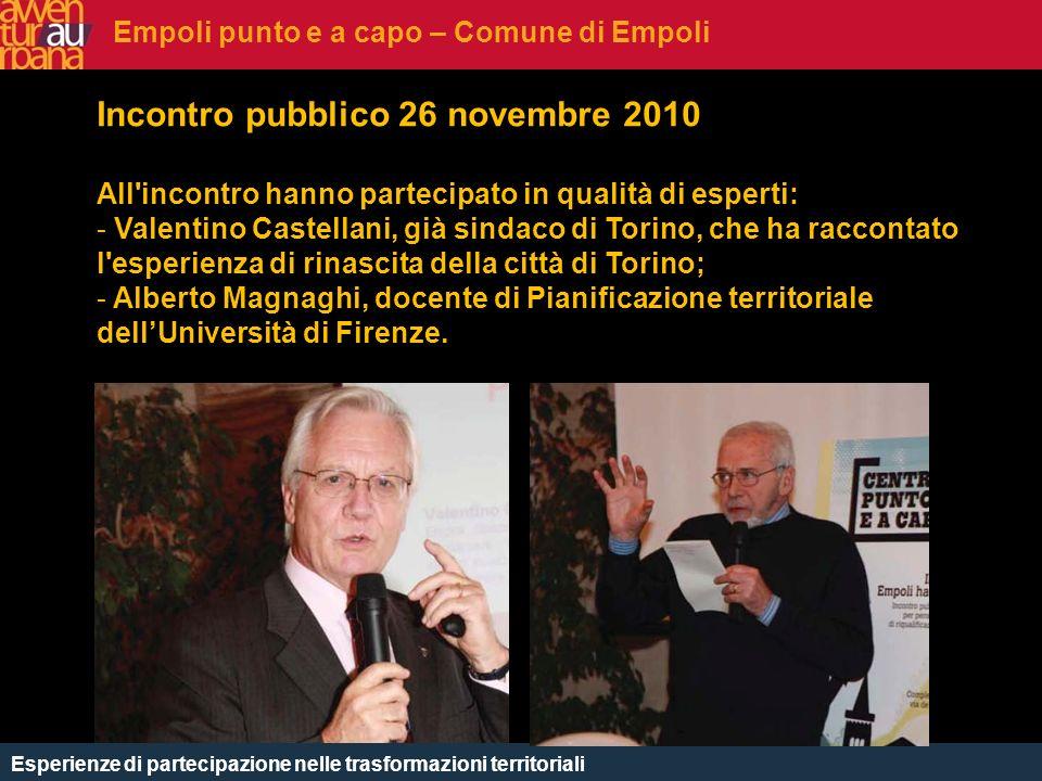 CHE COSè Incontro pubblico 26 novembre 2010 All'incontro hanno partecipato in qualità di esperti: - Valentino Castellani, già sindaco di Torino, che h