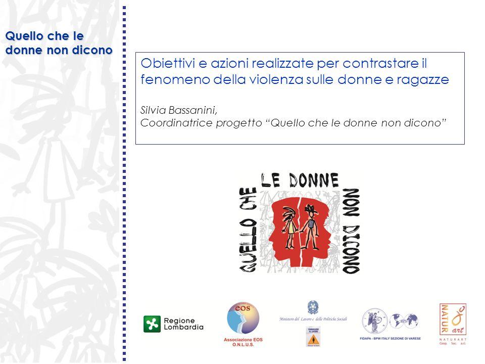 Silvia Bassanini Sensibilizzare Prevenire Informare/formare Obiettivi del progetto