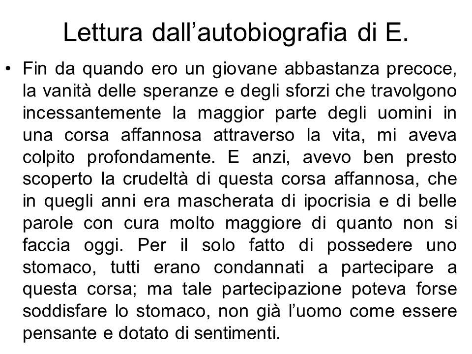 Lettura dallautobiografia di E.