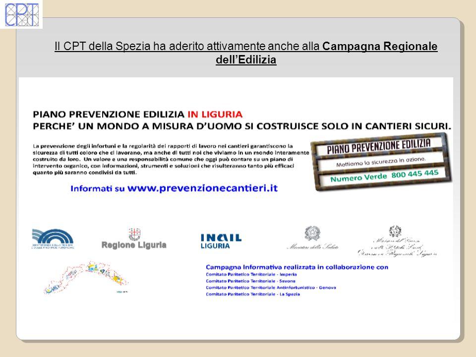 Il CPT della Spezia ha aderito attivamente anche alla Campagna Regionale dellEdilizia