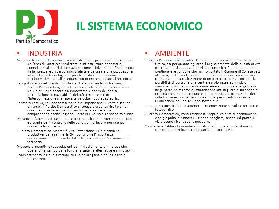 IL SISTEMA ECONOMICO COMMERCIO Promuovere lo sviluppo ulteriore delle aree commerciali di Collesalvetti e Stagno.