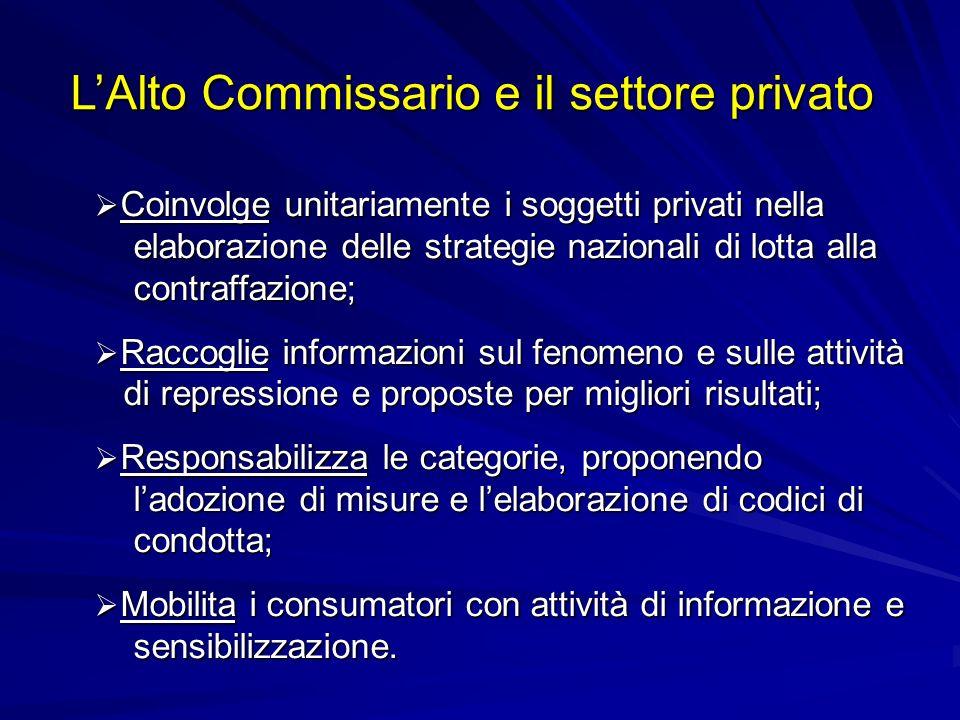 Coinvolge unitariamente i soggetti privati nella Coinvolge unitariamente i soggetti privati nella elaborazione delle strategie nazionali di lotta alla