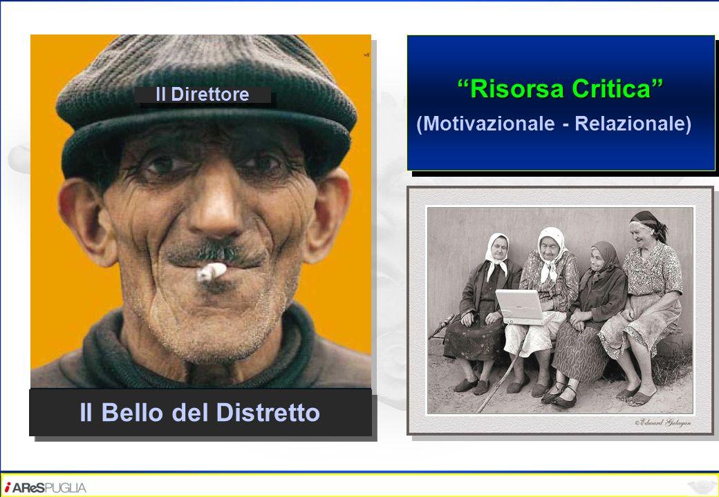 Risorsa Critica (Motivazionale - Relazionale) Risorsa Critica (Motivazionale - Relazionale) Il Direttore Il Bello del Distretto