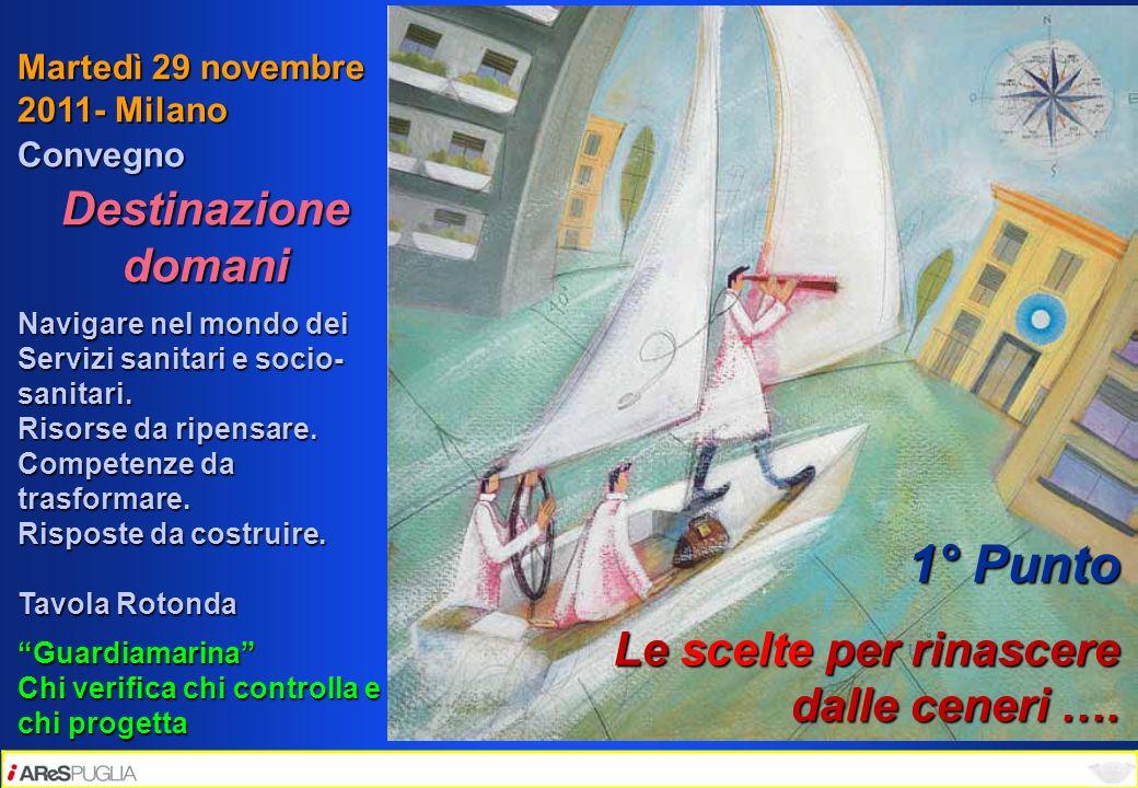 Martedì 29 novembre 2011- Milano Convegno Destinazione domani Navigare nel mondo dei Servizi sanitari e socio- sanitari. Risorse da ripensare. Compete