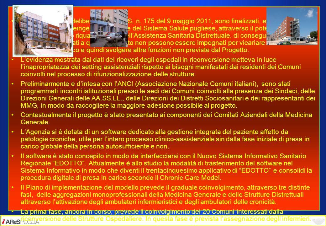 La Regione Puglia I costi, di cui alla delibera DG A.Re.S. n. 175 del 9 maggio 2011, sono finalizzati, esclusivamente, al programma di reingegnerizzaz