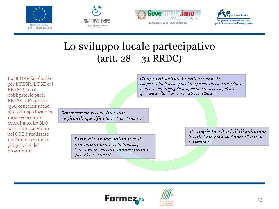 23 Lo sviluppo locale partecipativo (artt.