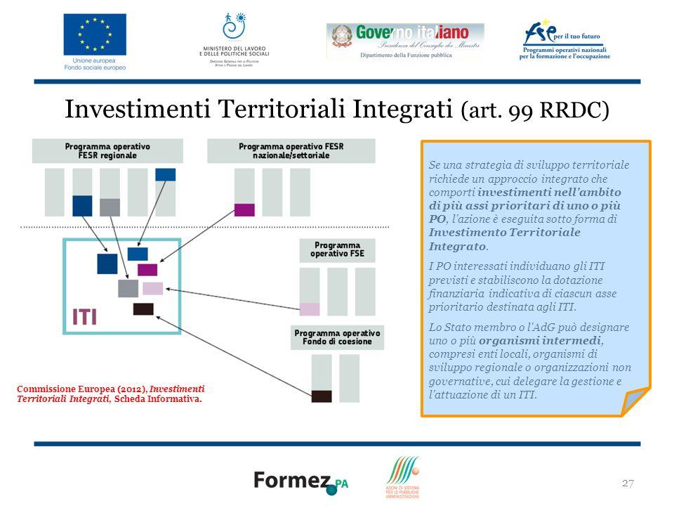 27 Investimenti Territoriali Integrati (art.