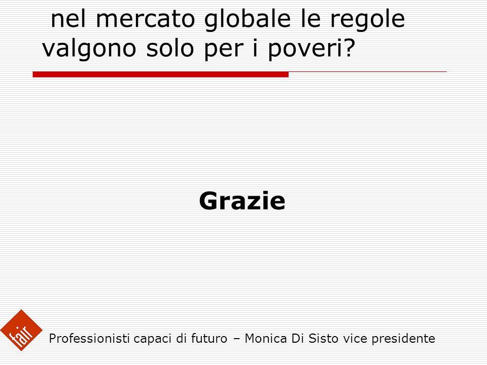 LA FRONTIERA ECONOMICA : nel mercato globale le regole valgono solo per i poveri? Grazie Professionisti capaci di futuro – Monica Di Sisto vice presid