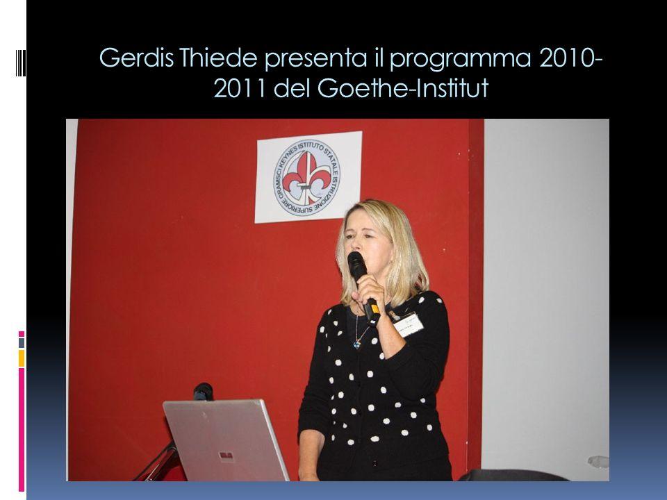 Gerdis Thiede presenta il programma 2010- 2011 del Goethe-Institut